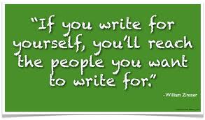 write for yourself
