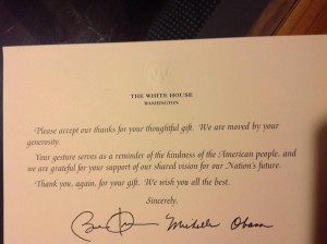 white house thanks
