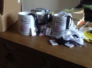mugs and bookmarks