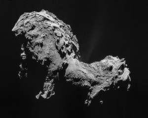 This comet was probed by aliens.